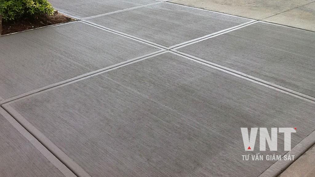 Quy định về việc cắt mạch khe co, khe dãn của bê tông đường, sân, nền nhà