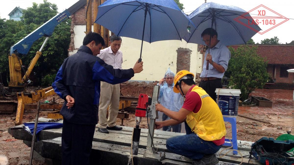 Kiểm định chất lượng bê tông cọc Nhà thờ giáo xứ Đại Ơn