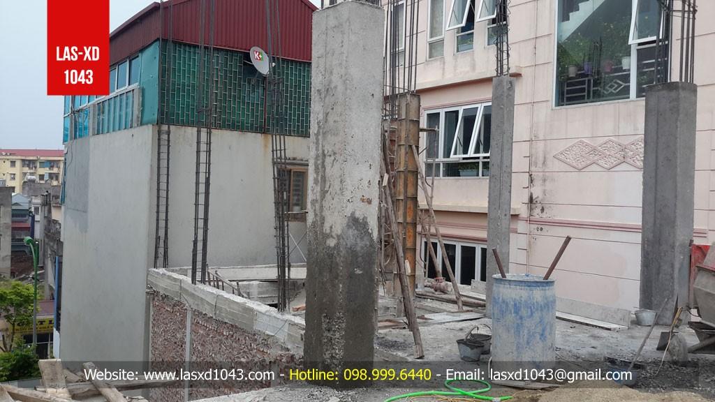 Kiểm định chất lượng bê tông cột công trình tại Phố Thạch...