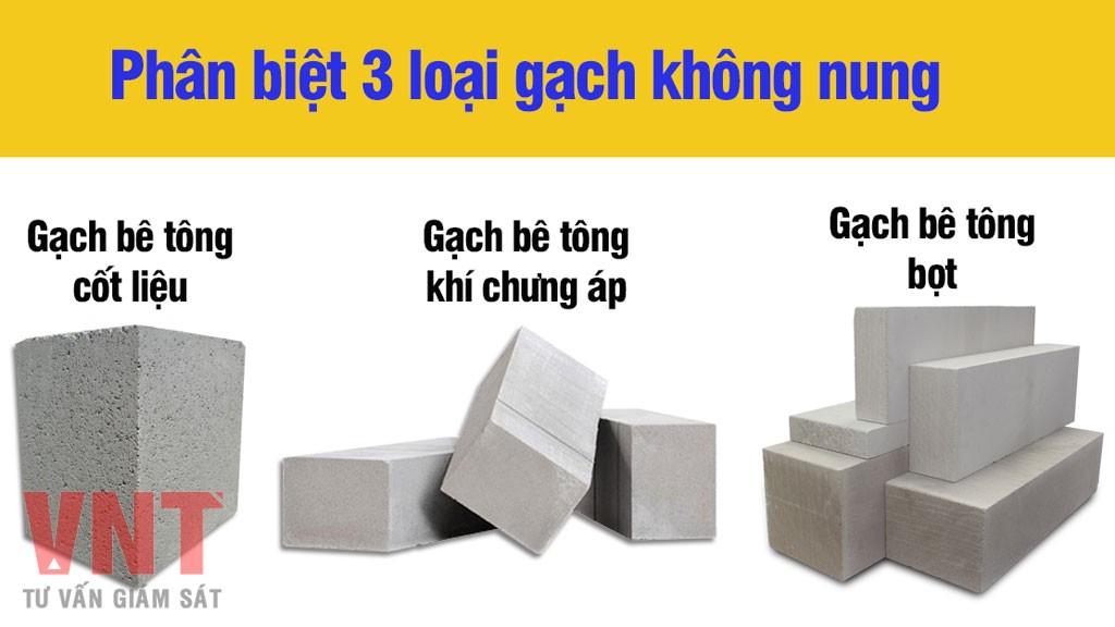 Phân biệt gạch bê tông cốt liệu, gạch bê tông khí chưng áp và gạch bê tông bọt