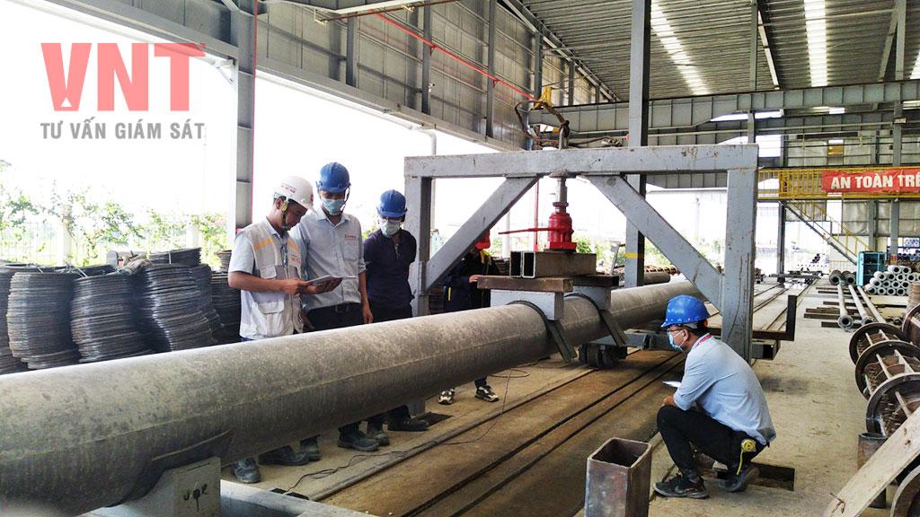 Giám sát thí nghiệm cọc bê tông đúc sẵn trước khi thi công tại công trường
