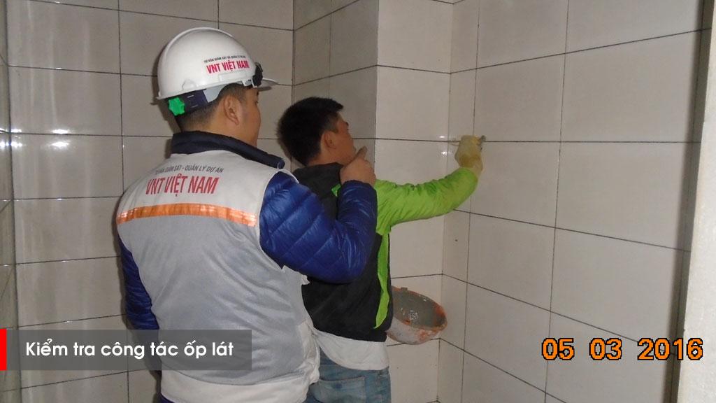 Nghiệm thu công tác ốp gạch