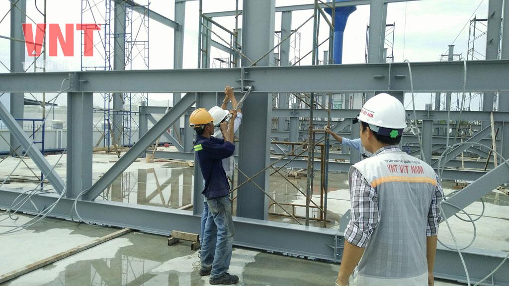 Giám sát thi công lắp dựng kết cấu thép tiền chế
