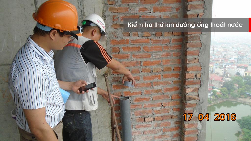 Giám sát công tác thử kín đường ống thoát nước
