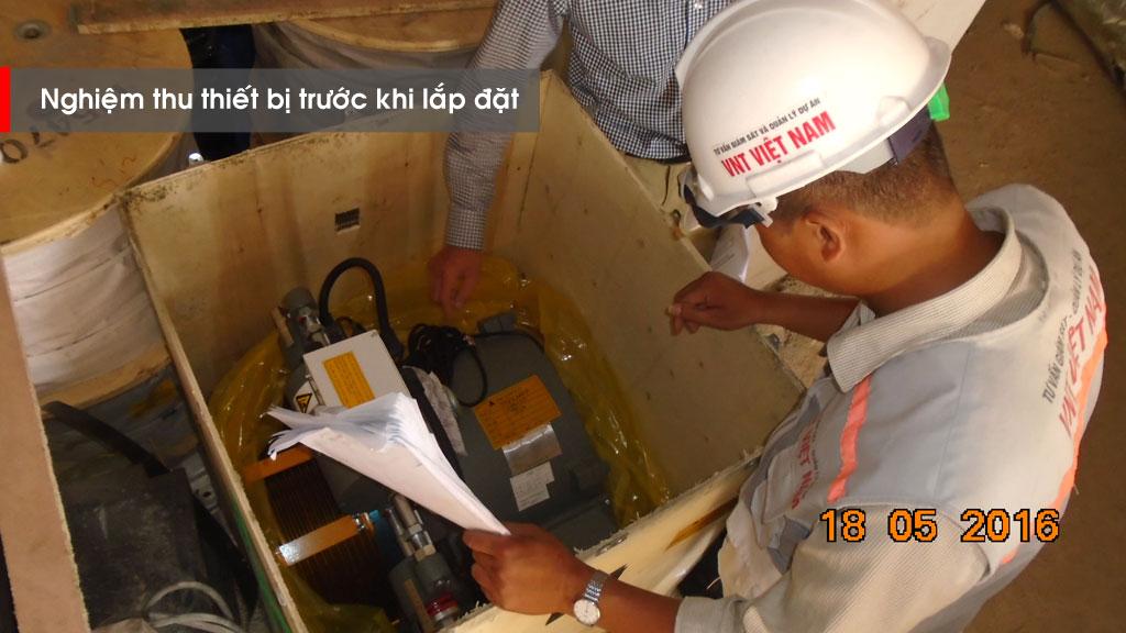 Nghiệm thu thiết bị trước khi lắp đặt