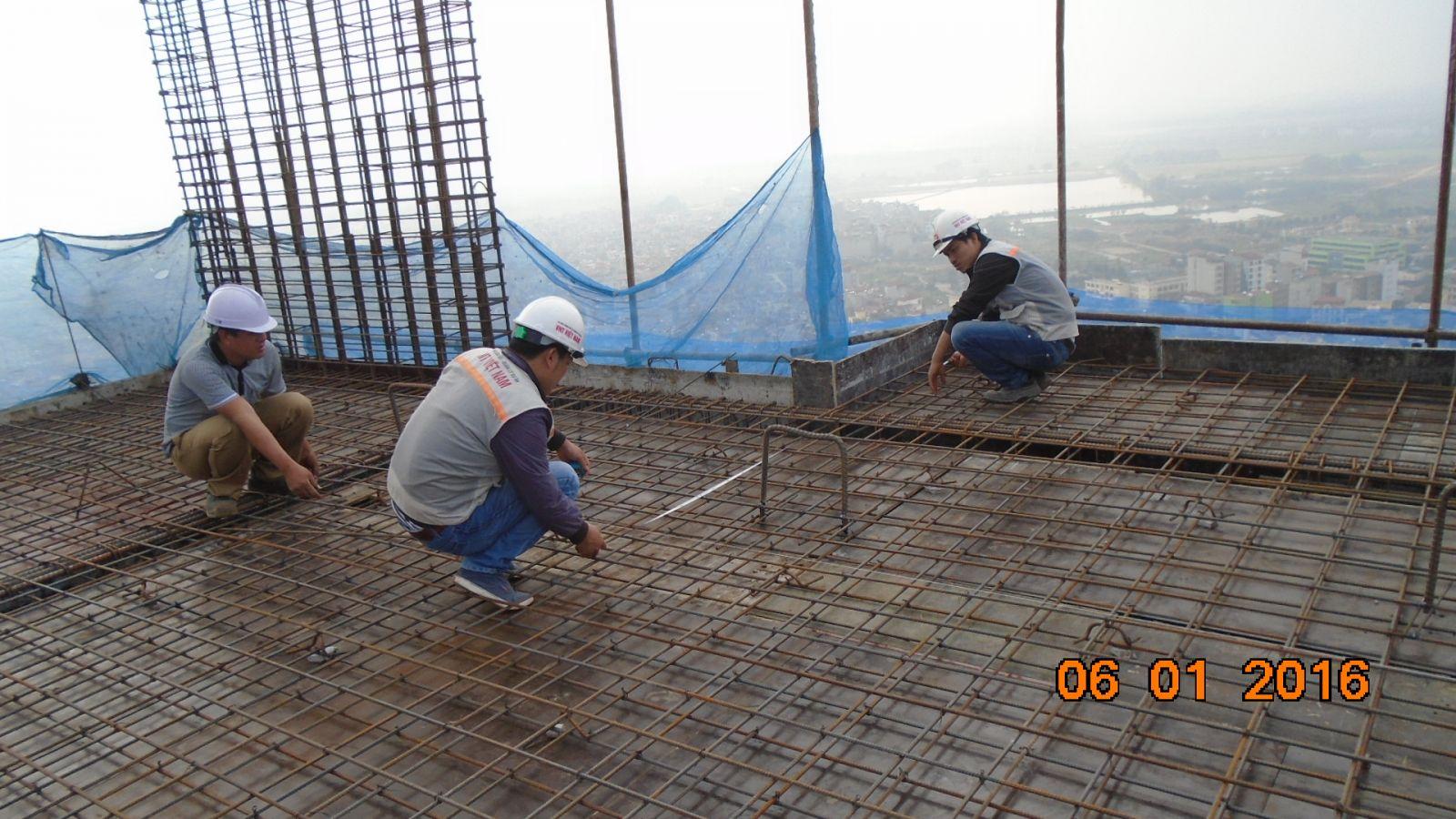 Nghiệm thu cốt thép dầm sàn nhà cao tầng