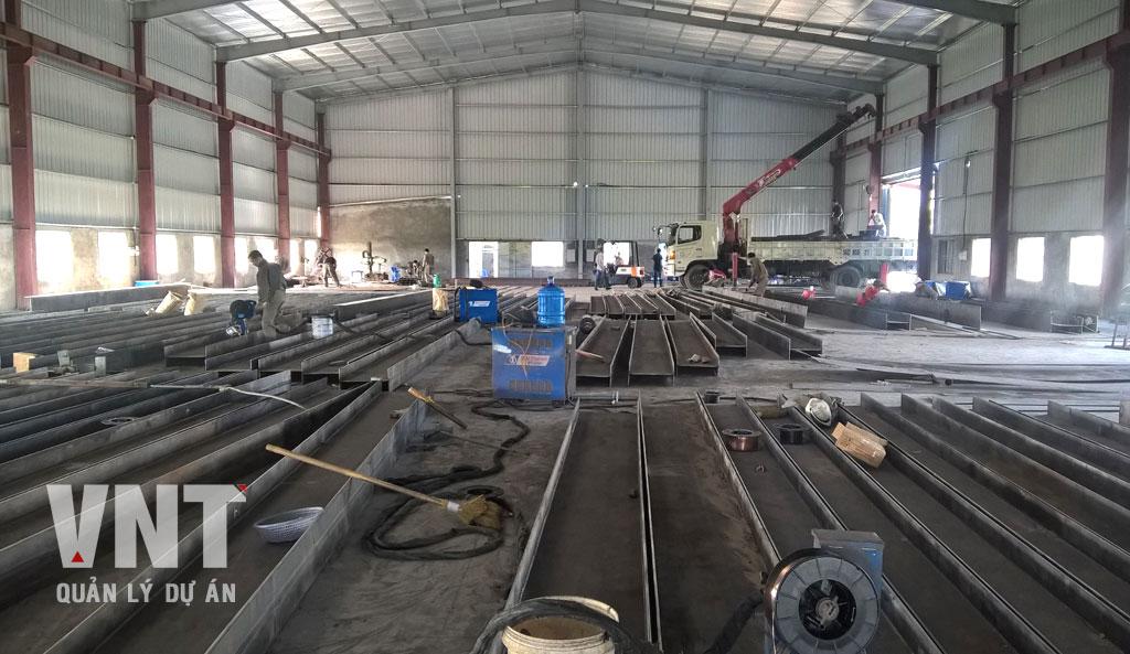Gia công khung kết cấu thép nhà máy