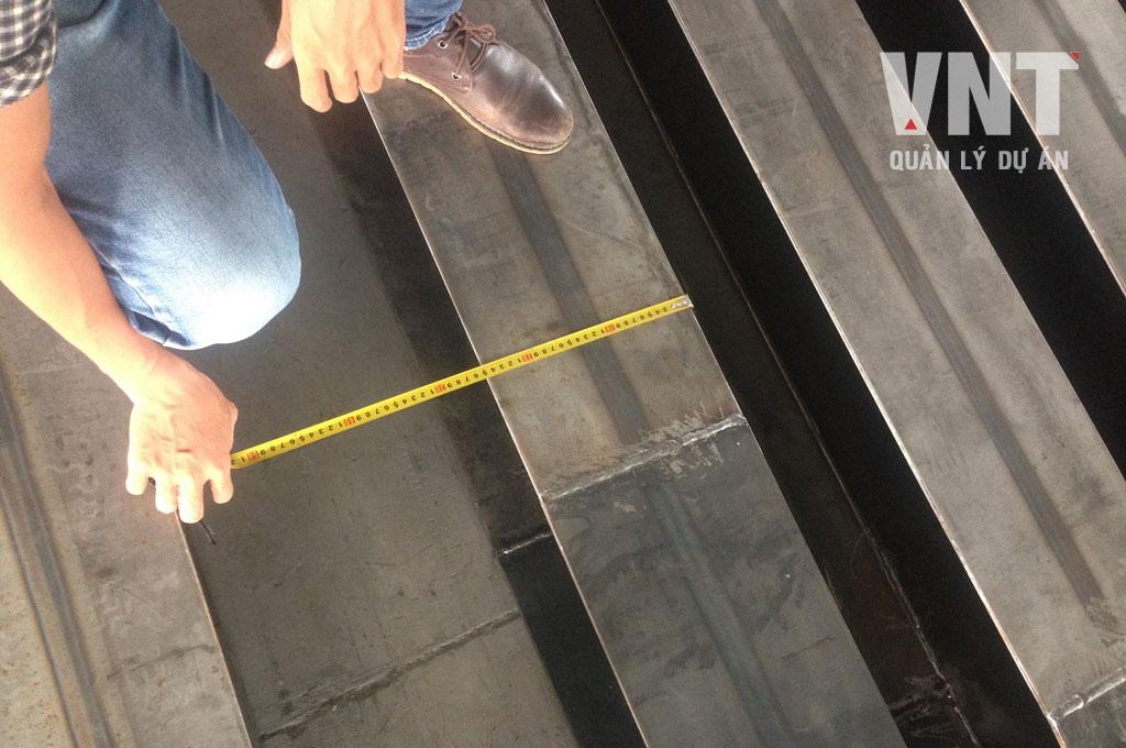Nghiệm thu gia công khung kết cấu thép nhà máy trước khi sơn