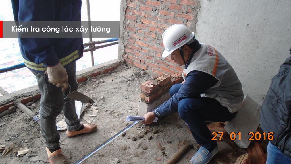 Giám sát công tác xây tường