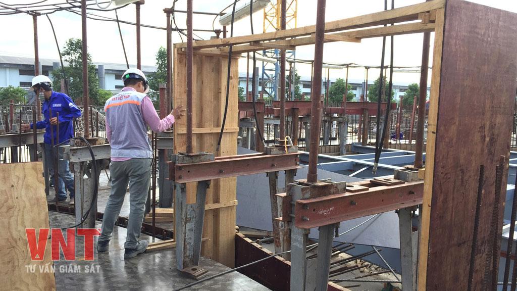 Giám sát công tác lắp dựng cốt thép bồn silo