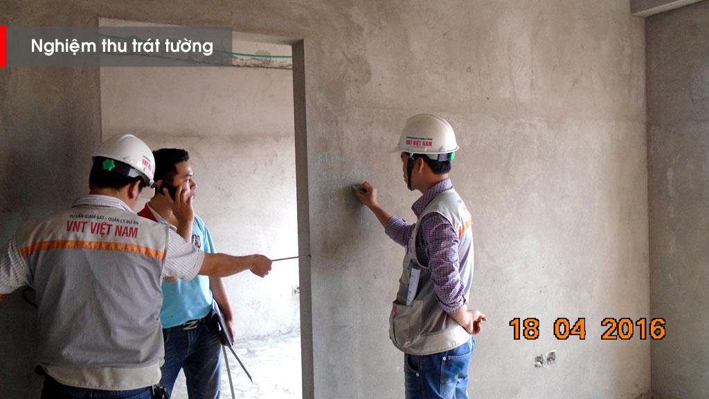 Nghiệm thu công tác trát tường