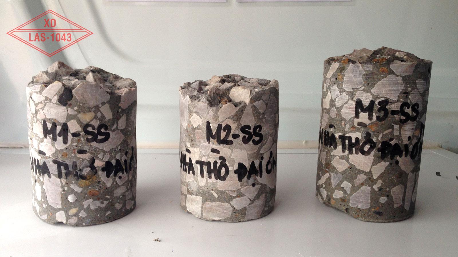 3 mẫu khoan rút lõi từ bê tông cọc