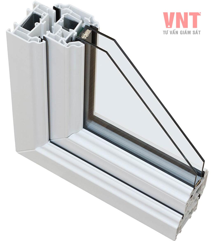 Chi tiết góc cửa sổ sử dụng kính hộp 2 lớp