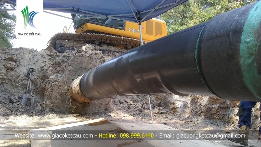 Gia cố đường ống bị ăn mòn, không đảm bảo áp lực làm việc bình thường
