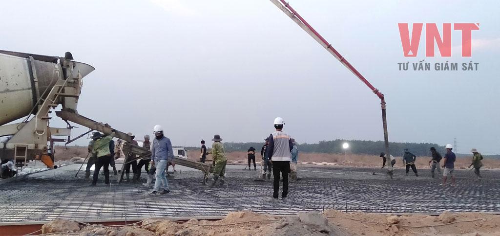 Giám sát thi công hạ tầng sân đường nhà máy
