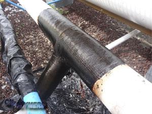 Gia cố đường ống bị giảm yếu nhưng không phải dừng hoạt động sản xuất