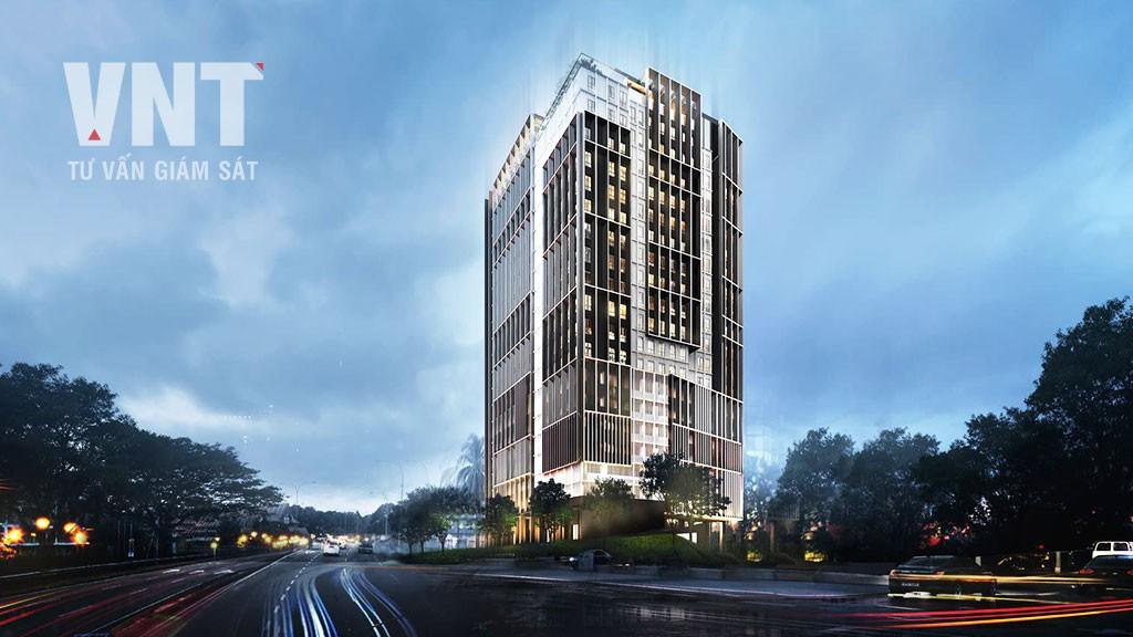 Tòa nhà hỗn hợp căn hộ cho thuê và khách sạn Thăng Long Palace