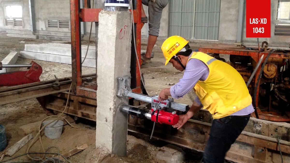 Kiểm định chất lượng bê tông cọc tại Nhà máy sơn Sao Việt Nam