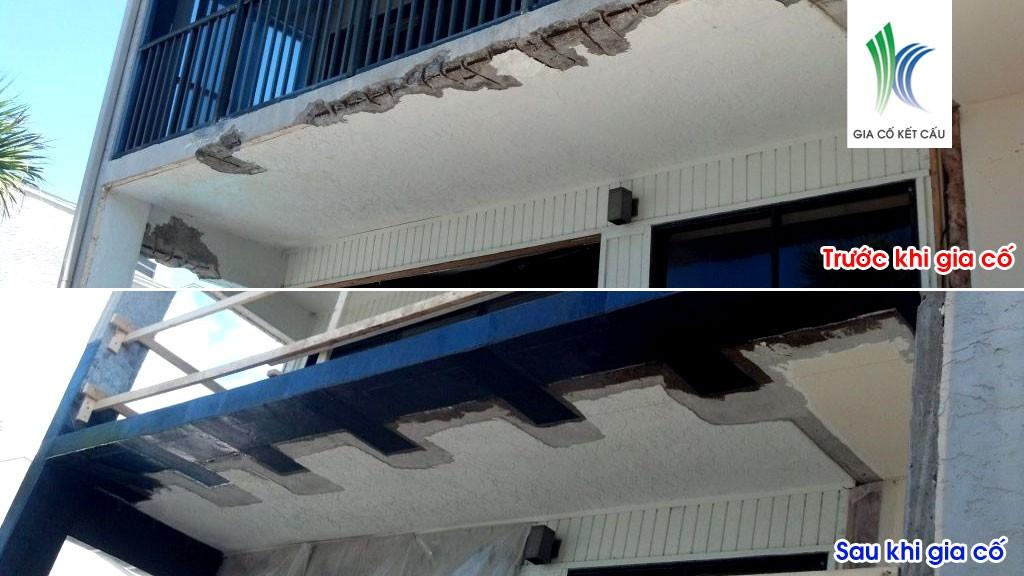 Sửa chữa ban công khách sạn ven biển Hải Phòng