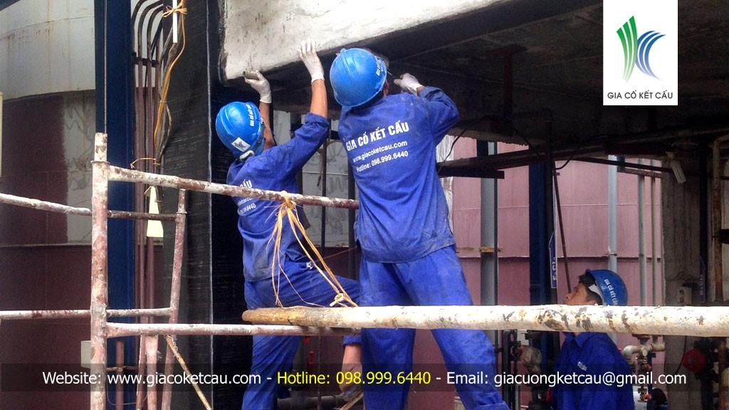 Sửa chữa kết cấu nhà kho chứa hóa chất của Nhà máy phân bón